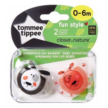 Tommee Tippee пустышки fun style 0-6 мес.