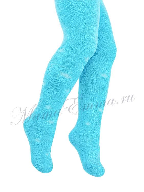 6cdfd56236e6f Зимние махровые колготки для малышей бирюзовые Conte 150 купить в ...